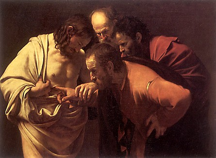 Doubting Thomas by Caravaggio