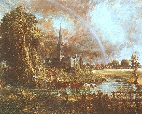 John Constable: Salisbury Cathedral from the Meadows