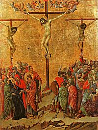 Duccio: Crucifixion Scene from the Maestà Altarpiece