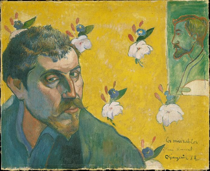 Paul Gauguin, Self-portrait with Portrait of Bernard (Les Mis&eacute;rables), 1888, Van Gogh Museum, Amsterdam