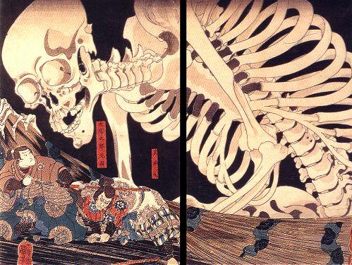 Risultati immagini per kuniyoshi skull