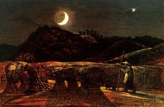 Samuel Palmer: Harvest Moon