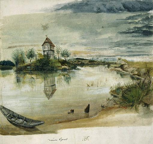 Albrecht Durer: Fisherman's House on a Lake, near Nuremberg