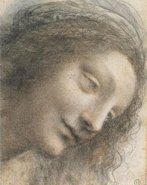 Leonardo da Vinci: Head of the Virgin in Three-Quarter View