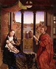 van der Weyden: Saint Luke Drawing the Virgin (Web Gallery of Art)