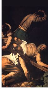 Caravaggio: The Crucifixion of St. Peter (detail)