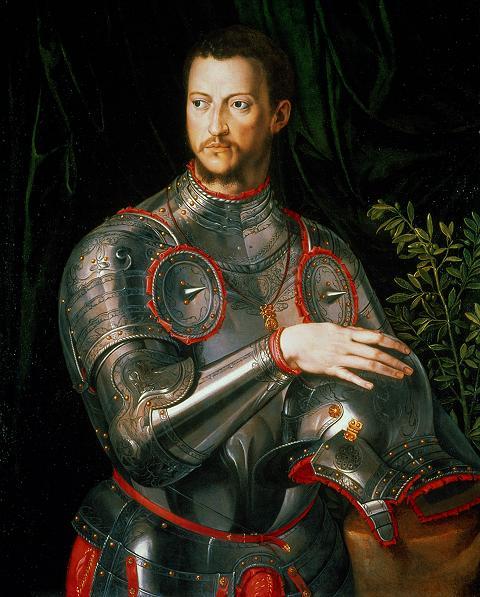 agnolo bronzino duke cosimo i de medici in armor
